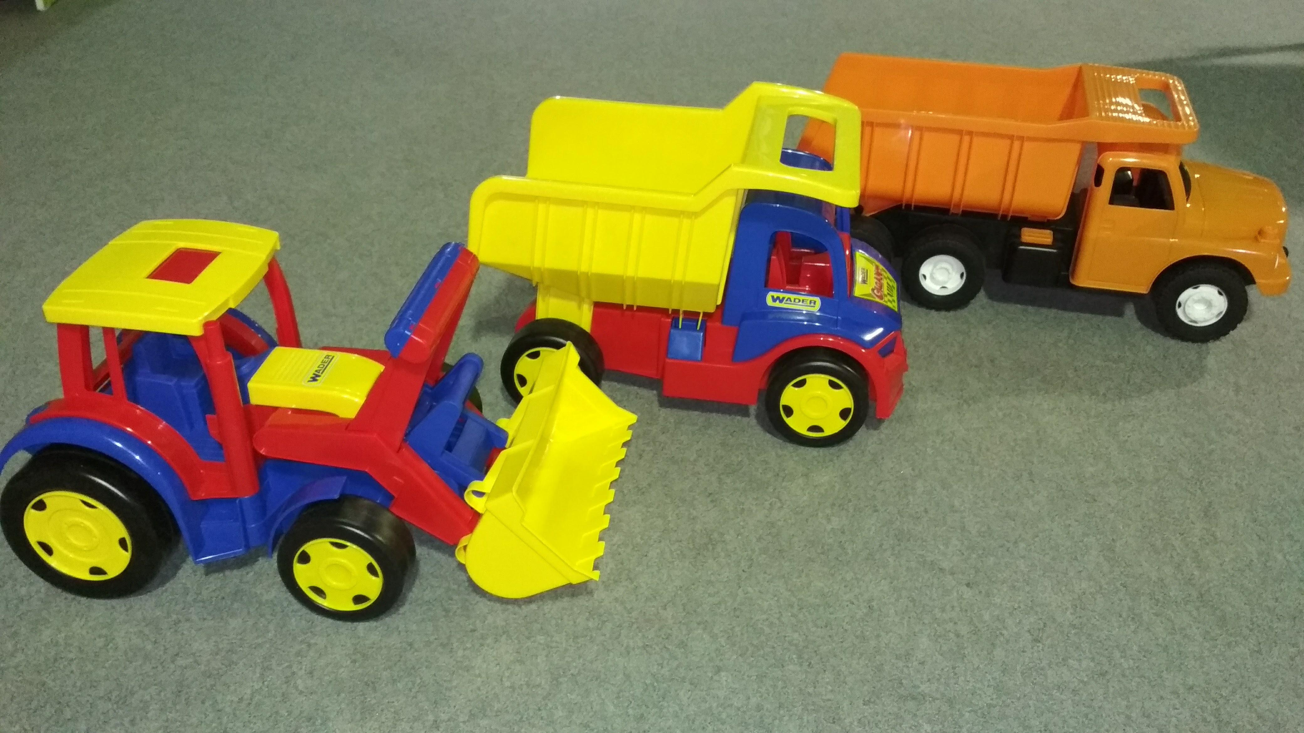 Bagr a náklaďáky pro kluky