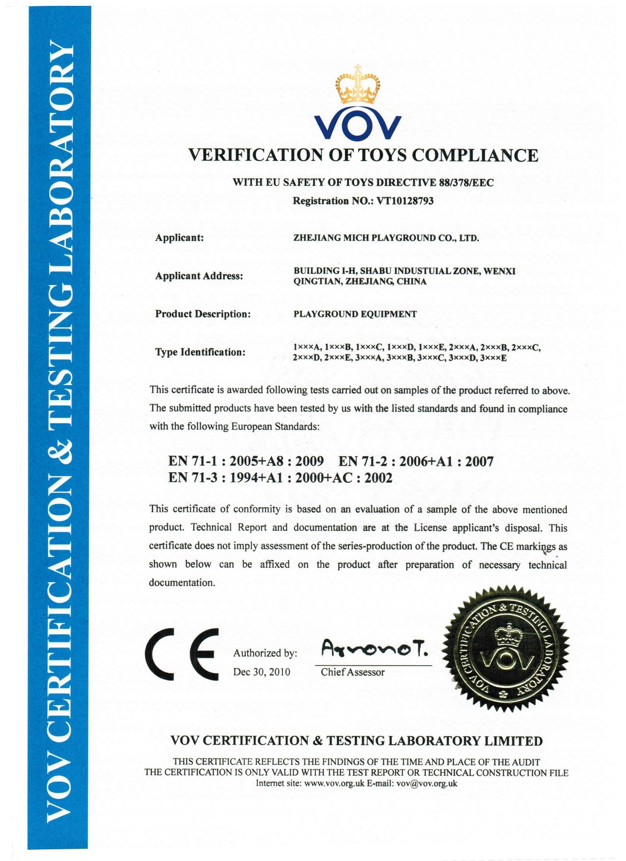 CE certif