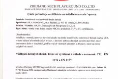 Certifikát - montáž